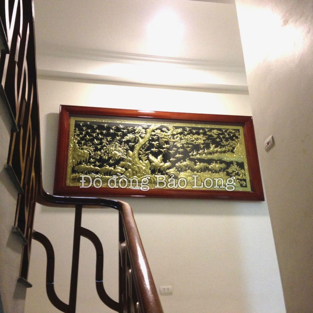 Lắp đặt bức tranh thứ 4 - Bách Hạc cho nhà anh Hải ở Long Biên, Hà Nội