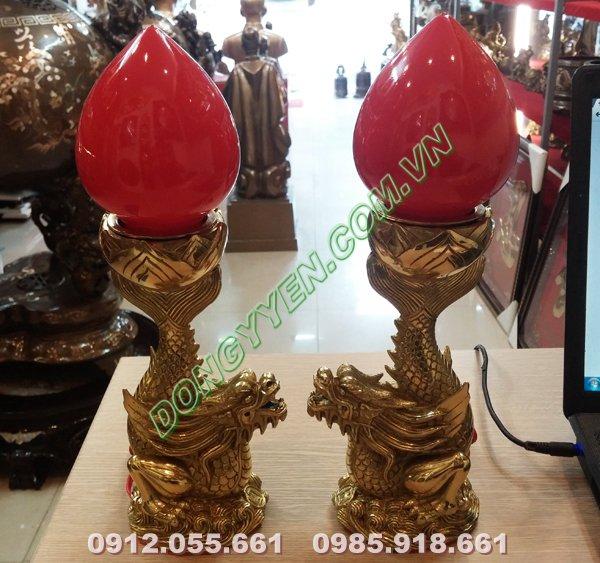 đèn thờ cúng hình cá chép hóa rồng