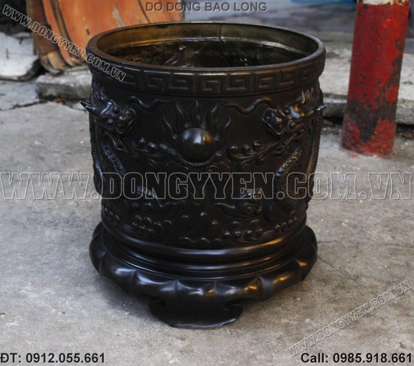 Bát Hương Đồng Hun Giả Cổ 28cm