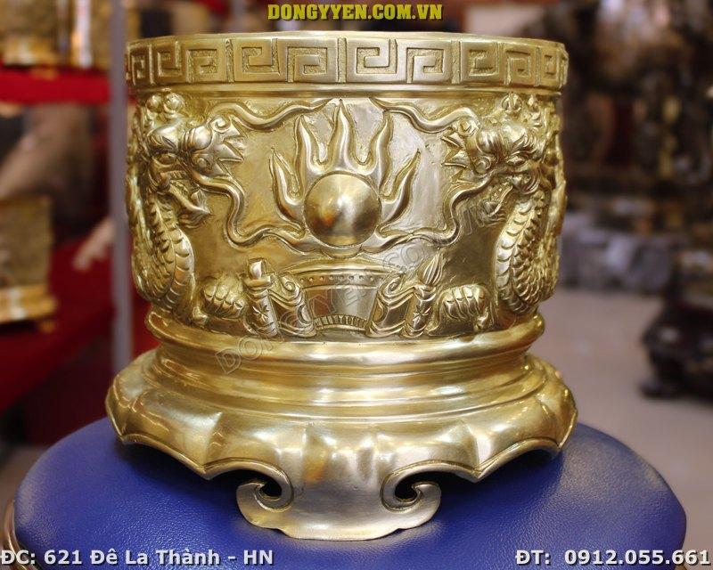 Bát Hương Đồng đúc thủ công bằng đồng vàng