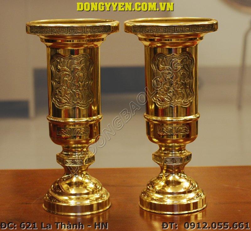 ống hương bằng đồng vàng 35cm