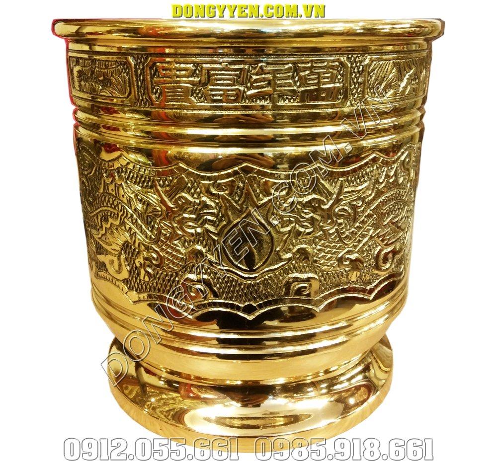 bát hương thờ cúng bằng đồng dapha 18cm