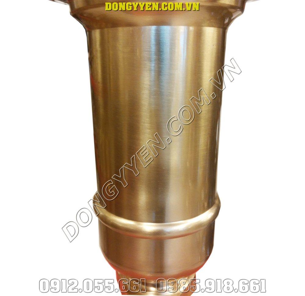 Thân ống đựng nhang bằng đồng vàng 30cm