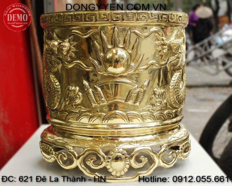 Bát Hương Đồng Vàng 35cm