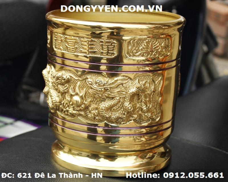 Bát Hương Bằng Đồng Vàng Dapha - Đại Phát ĐK 18cm