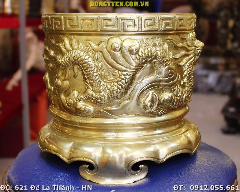 Bát Hương Đồng Đúc Thủ Công Hàng Đẹp đk 20cm