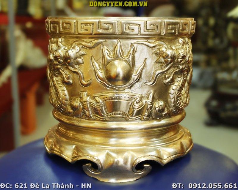 Bát Hương Đồng Vàng Cao Cấp ĐK 17cm