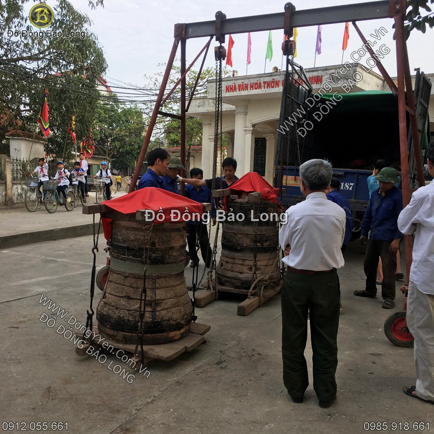 Đúc Chuông Đồng 150Kg Cho Đền Làng