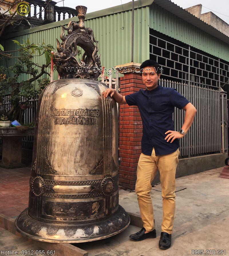 Đúc Chuông Đồng 1 Tấn Cho Đền Bửu Long