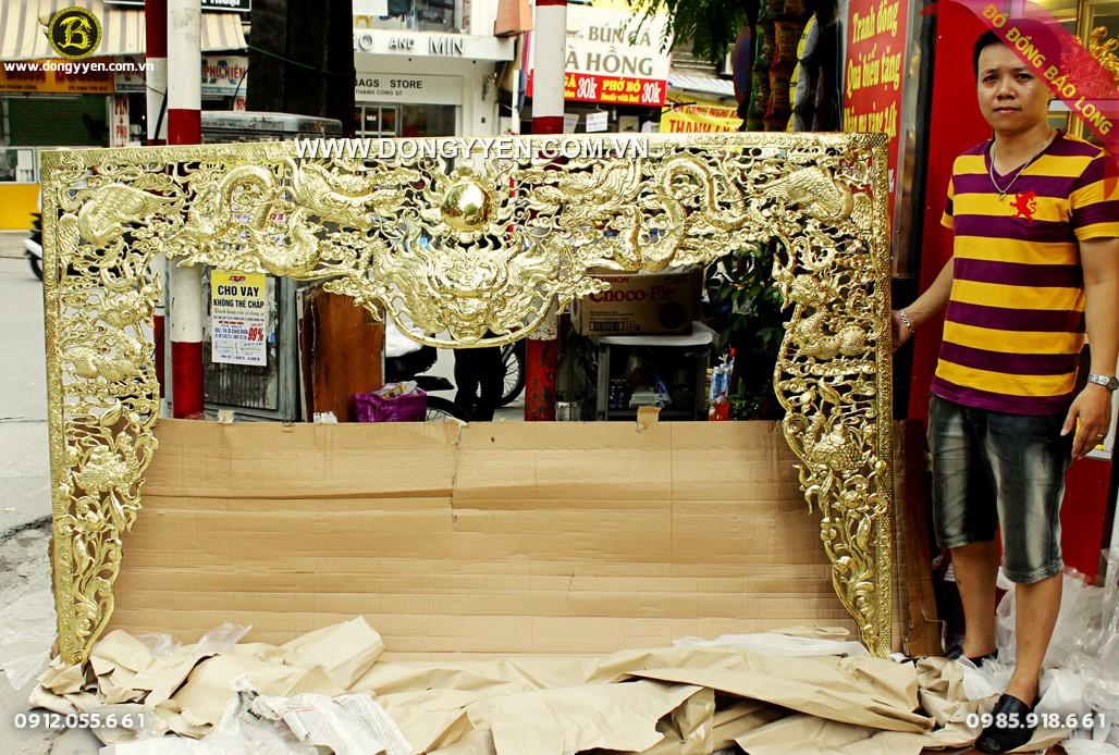 cửa võng bằng đồng vàng dài 2m5