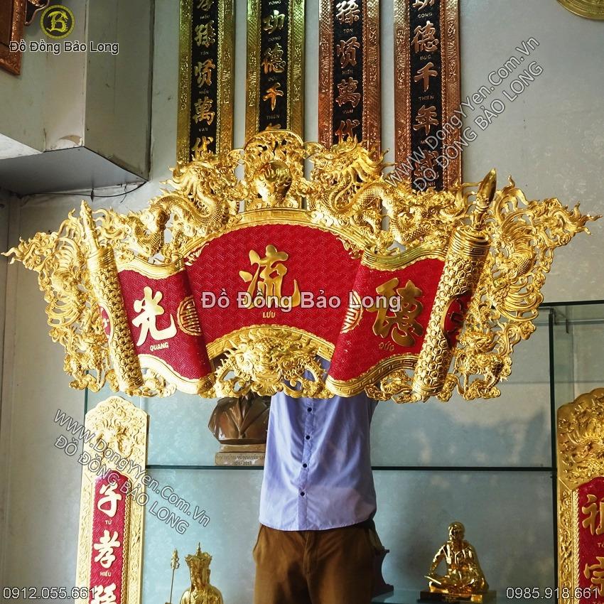 Cuốn Thư Bằng Đồng Mạ Vàng 24k