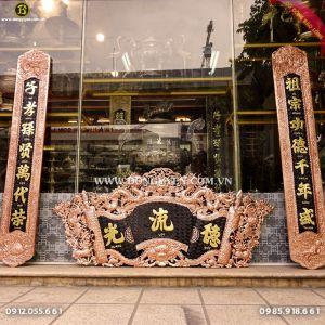 Cuốn Thư Câu Đối Chữ Dát Vàng 1m55 cho khách Lâm Đồng