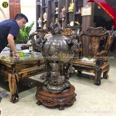 Đỉnh Thất Lân Vờn Cầu 1m05 Cho Khách Hà Tĩnh