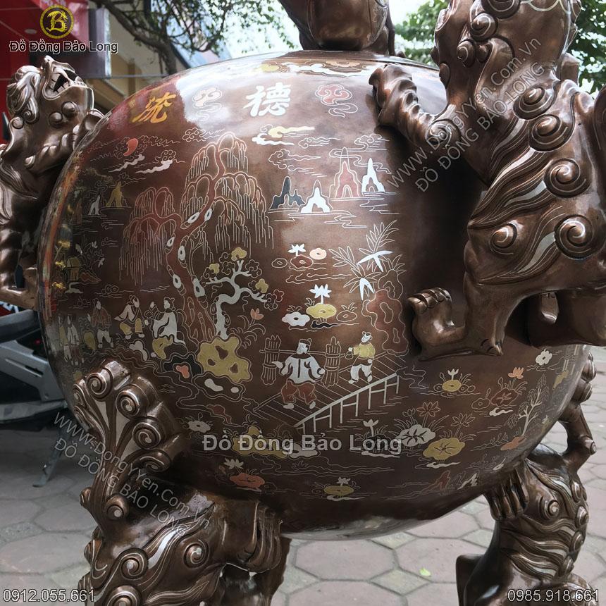 Đinh Đồng Thất Lân Khảm 3 Chữ Vàng 1m1