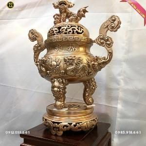 Đỉnh Rồng Nổi Đúc Bằng Đồng Đỏ 60cm Hàng đặt khách Hà Nội