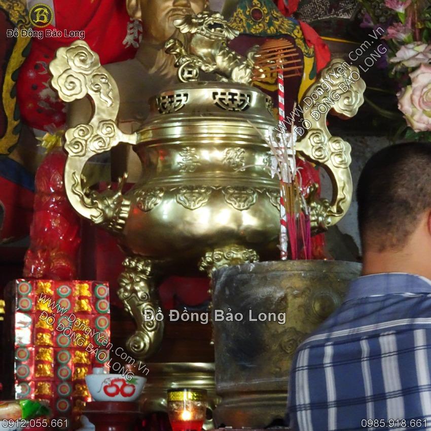 Đỉnh Chữ Thọ Đẹp Cho Đình, Chùa 90cm