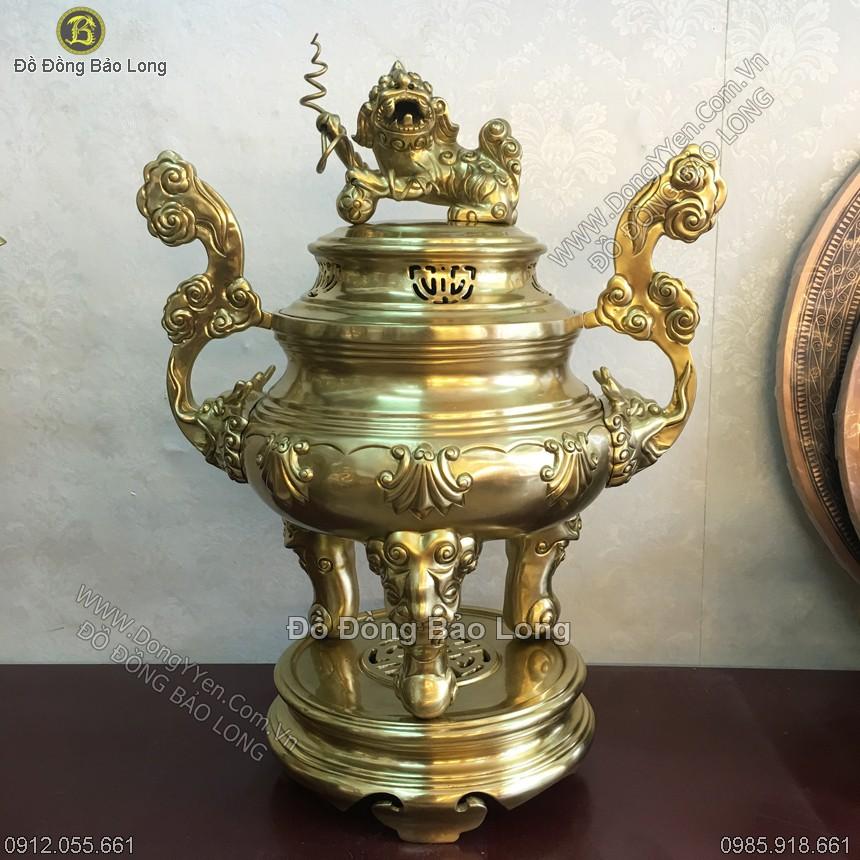 Đỉnh Đồng Cát Tút Hoa Sòi 60cm