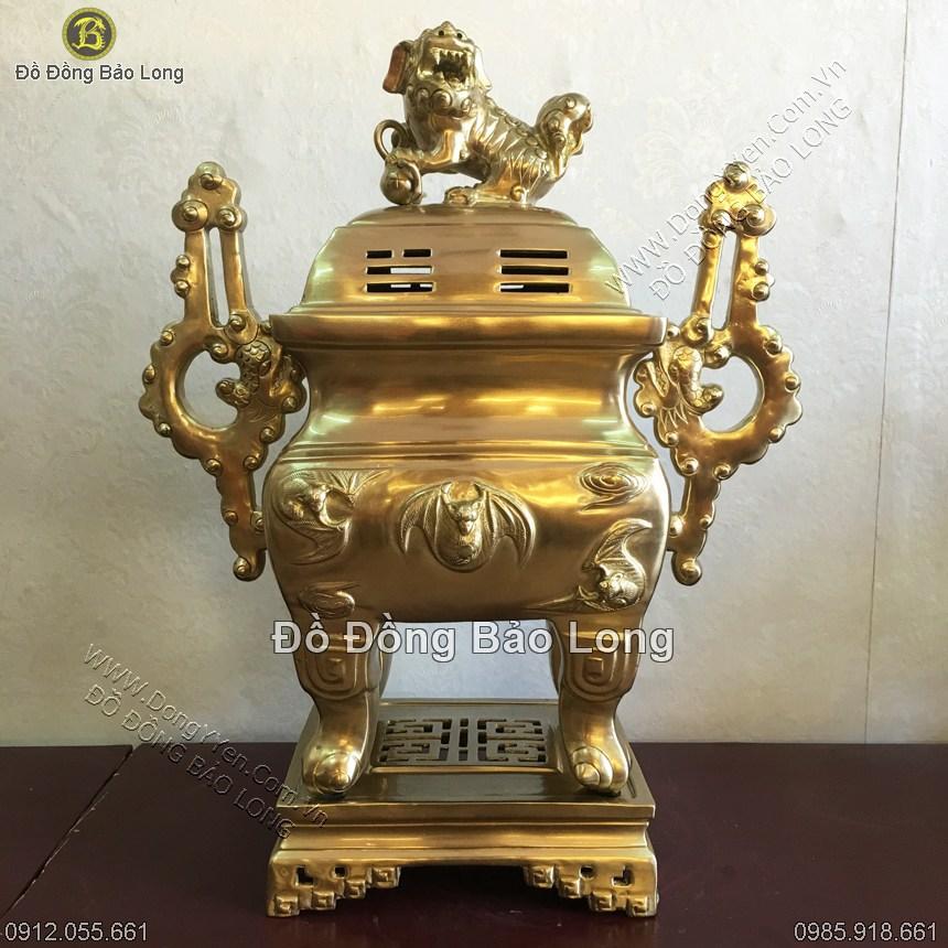 Đỉnh Đồng Vuông Dơi Mây Tai Chiện 50cm