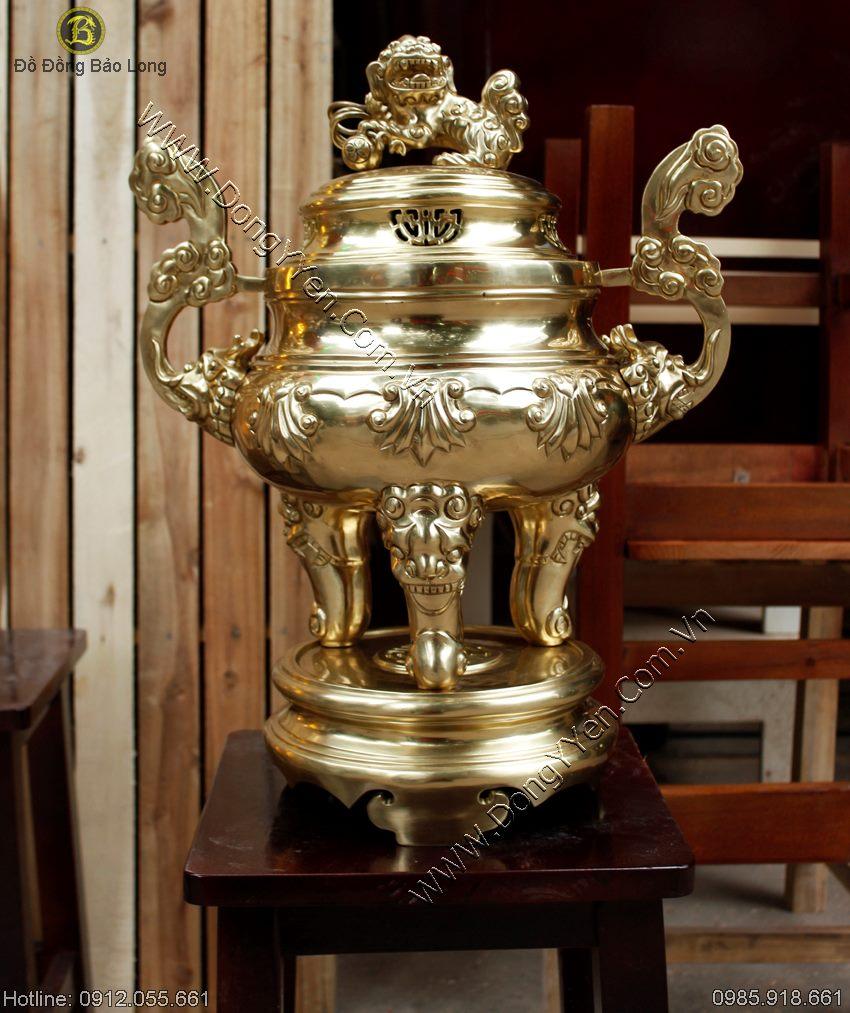 Đỉnh Sòi Đồng Vàng Hàng Đặt 50cm
