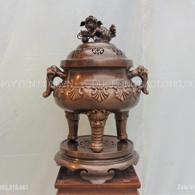 Đỉnh Thập Sòi Bằng Đồng Đỏ 62cm Cho Khách Hà Nội