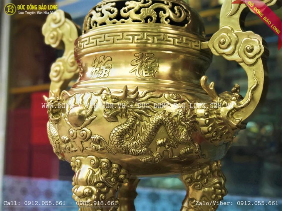 đỉnh rồng nổi bằng đồng catut