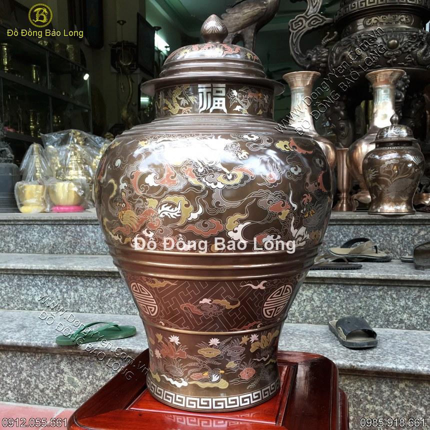 Chóe Đồng Khảm Ngũ Sắc 60cm