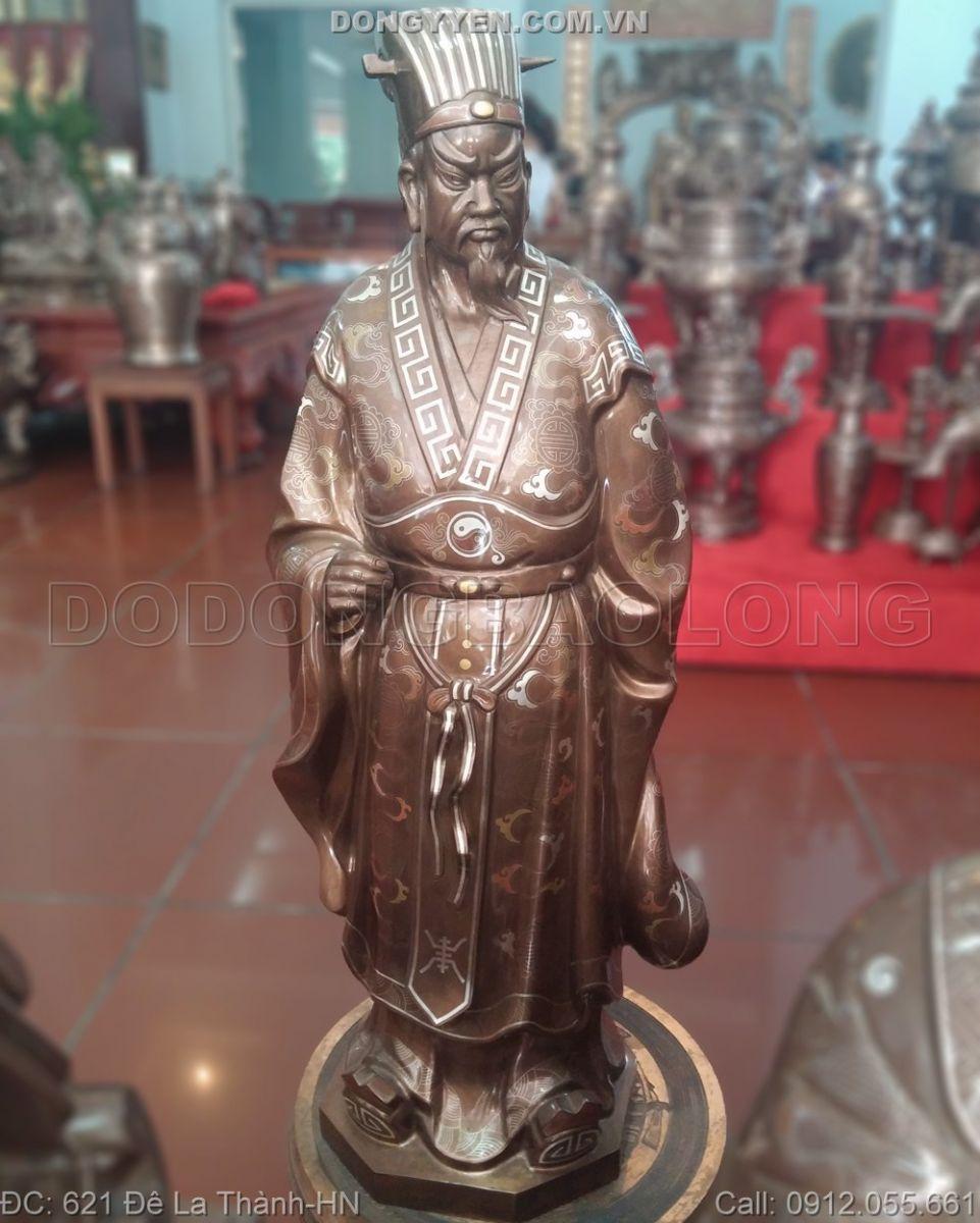 Tượng Đồng Khổng Minh - Gia Cát Lượng Khảm Ngũ Sắc