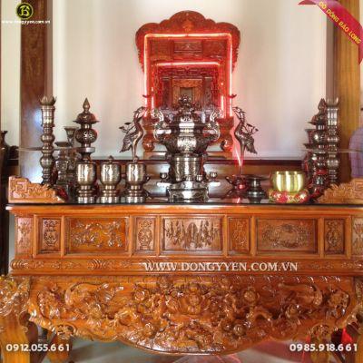 Bộ Đỉnh Bát Giác 70cm Khảm tam khí cho nhà thờ Họ ở Ứng Hòa