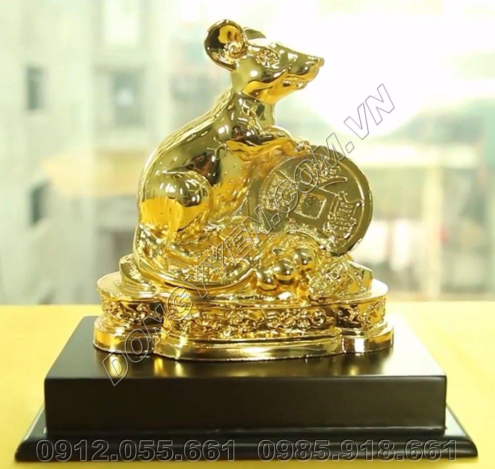 Chuột Phong Thủy Bằng Đồng Mạ Vàng 24K