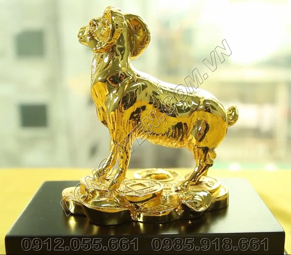 Dê Phong Thủy Bằng Đồng Mạ Vàng 24K