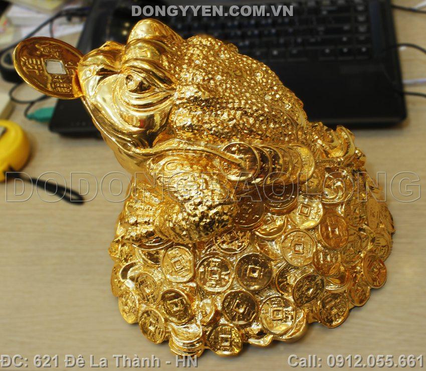 Cóc Đồng Ngậm Tiến 22cm Mạ Vàng 24K