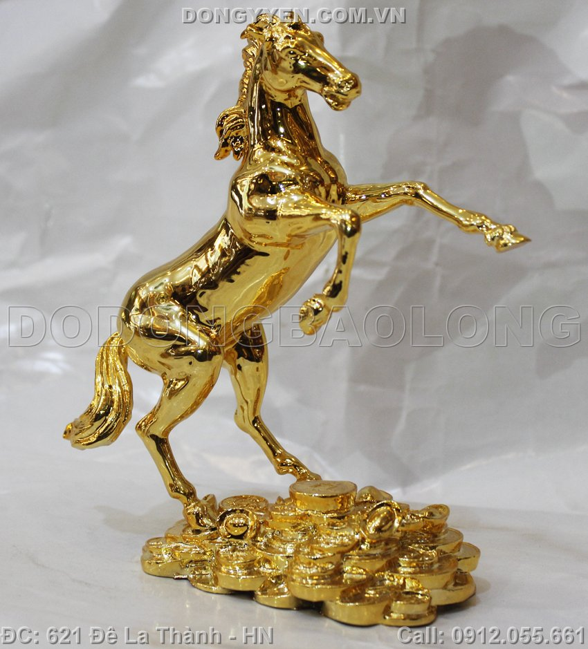 Ngựa Mạ Vàng 24K Cao 20cm