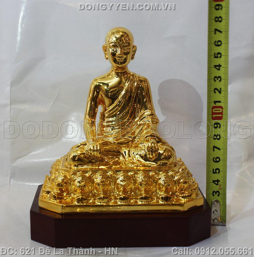 Tượng Đồng Phật Hoàng Trần Nhân Tông Mạ Vàng 24K