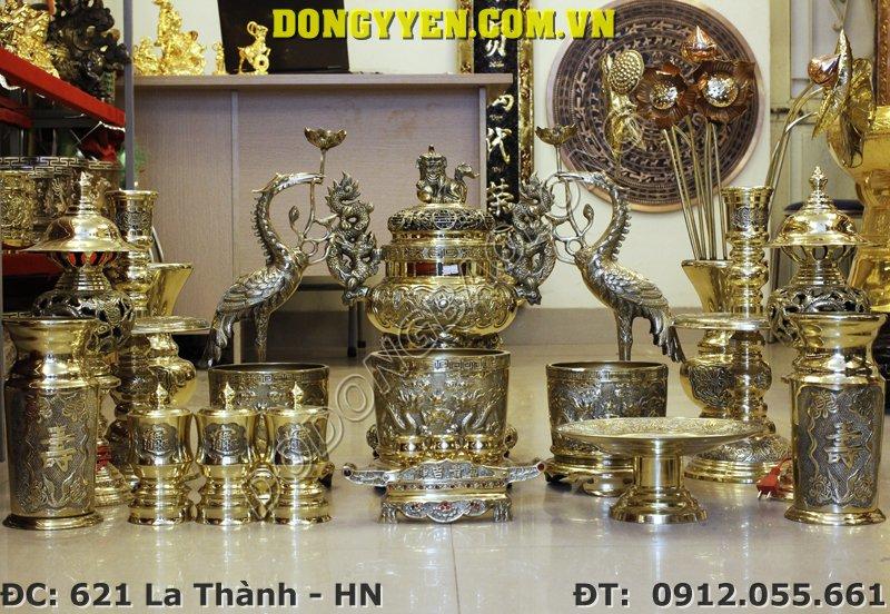 đồ thờ cúng bằng đồng vàng đài loan