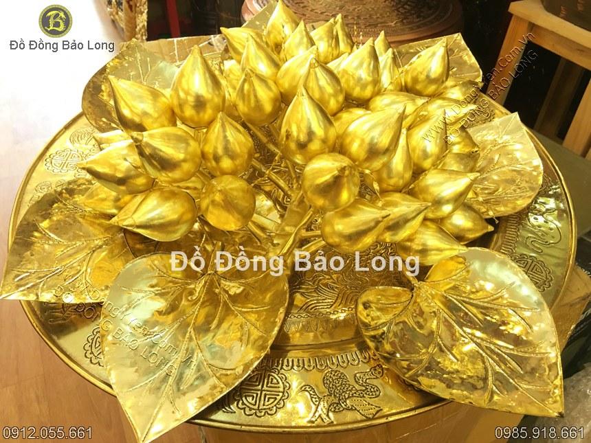 bộ trầu cau 68 quả abwngf đồng vàng