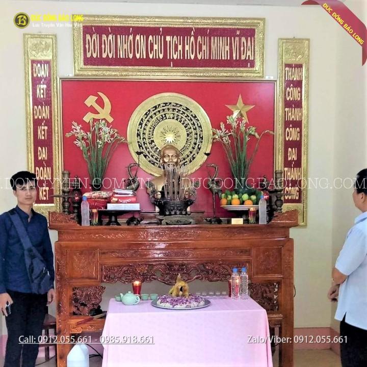 Bộ Đồ Thờ Bằng Đồng Cho Phòng Thờ Bác Hồ Huyện Ủy Hà Quảng Cao Bằng