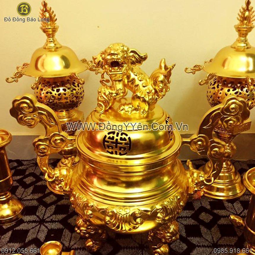 Bộ Đồ Thờ Thếp Vàng 9999 cao 60cm