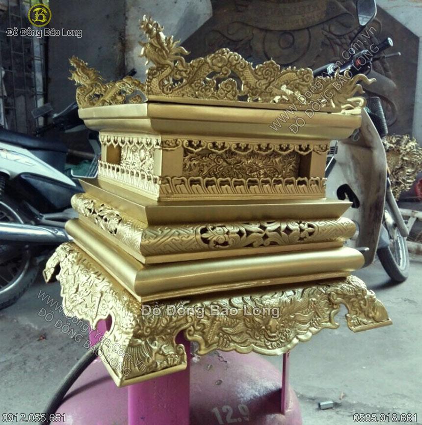 Chân Đế Ngai Thờ Bằng Đồng 30cm