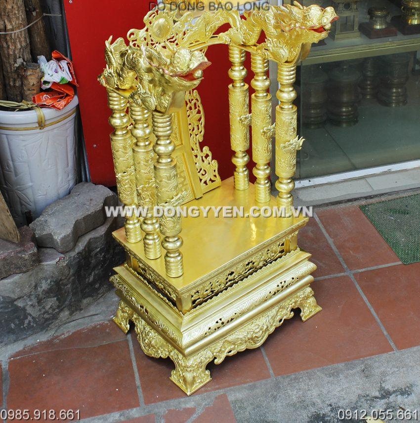 Bộ Ngai Đồng Thờ Tổ Tiên Cao 81cm