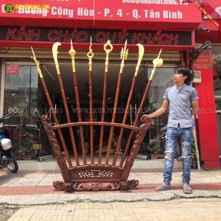 Bộ Bát Bửu Bằng Đồng 2m17 Dát Vàng 9999