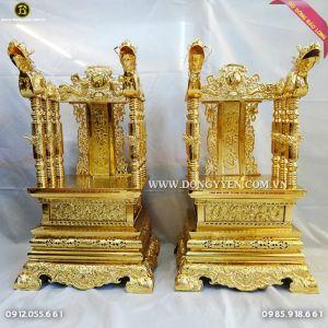 Ngai Thờ bằng đồng 81cm Mạ Vàng 24k cho khách Tây Ninh