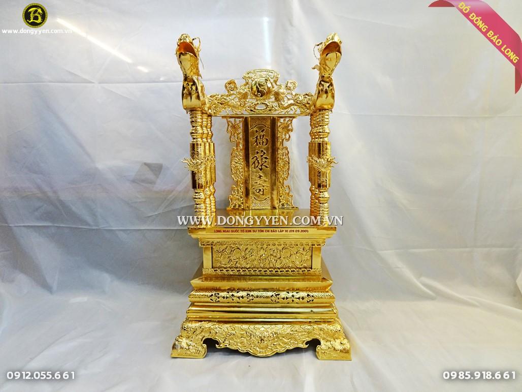 ngai thwof bằng đồng mạ vàng 24k cao 81cm