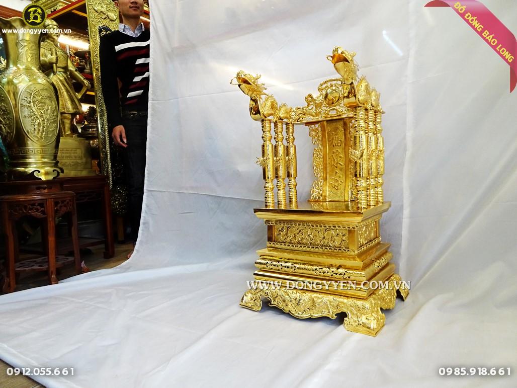 ngai thwof bằng đồng mạ vàng 24k 81cm