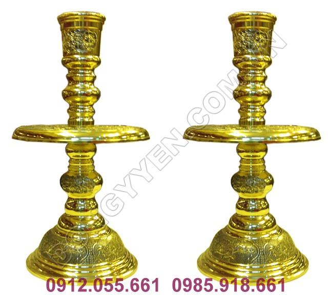 Đôi Nến Thờ Bằng Đồng cao 50cm