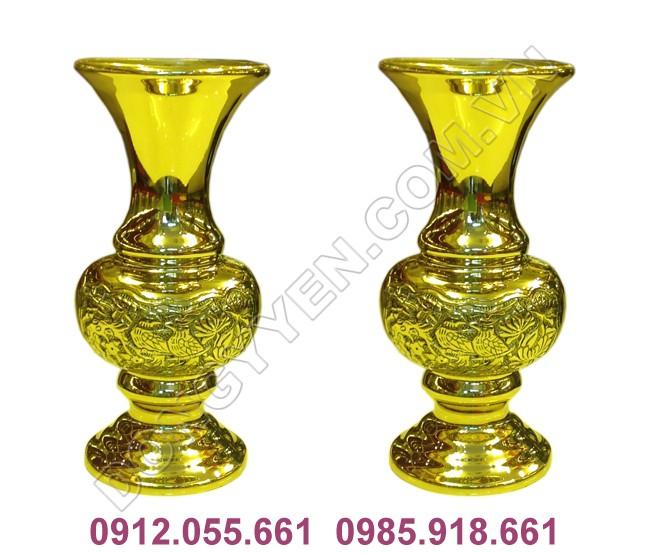 Đôi Lọ Cúc Bằng Đồng Vàng Đài Loan