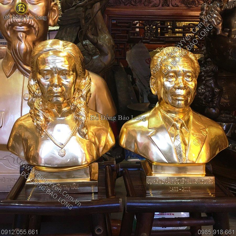 Đúc Tượng Chân Dung Bố Mẹ Anh Việt Hải Phòng Dát Vàng