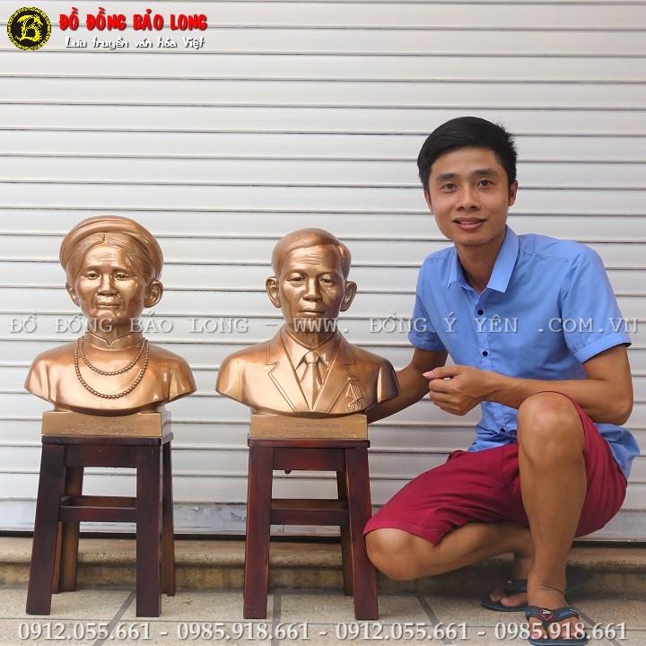 Tượng Chân Dung Cụ Ông Cụ Bà Cao 45cm cho Khách Hàng TPHCM