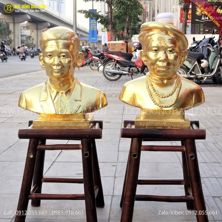 Đúc Tượng Chân Dung Dát Vàng 9999 Cho Khách Lào Cai