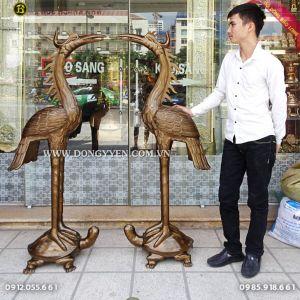Đôi Hạc Đồng Đỏ 1m55 cho khách Sơn La