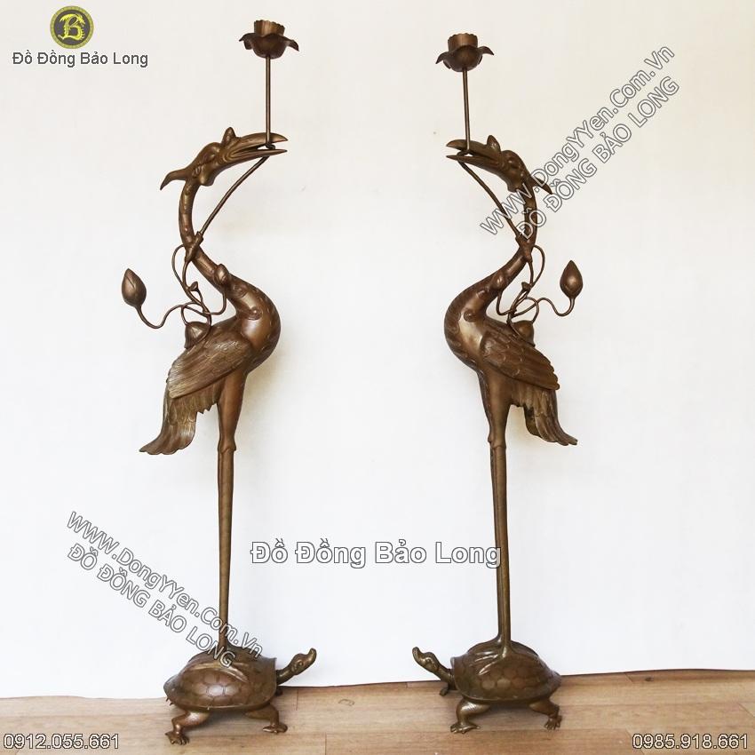 Đôi Hạc Thờ Dâng Tam Bảo, Nhà Thờ, Đền, Chùa, Điện 1m27